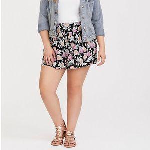 Torrid | Black Paisley Gauze Pull On Summer Shorts